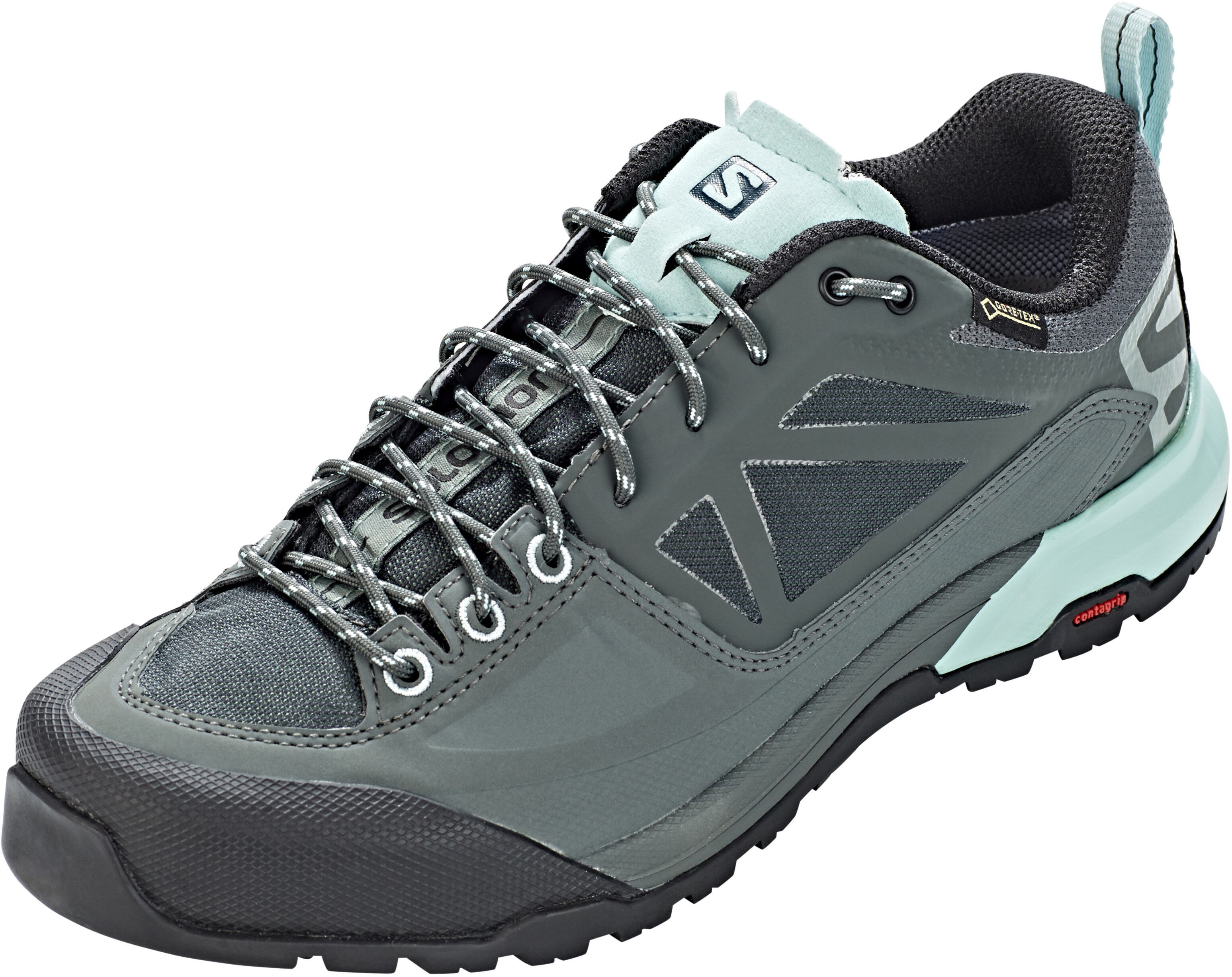 0b6598d027dc6 Salomon X Alp SPRY GTX Shoes Women balsam green/urban chic/canal blue